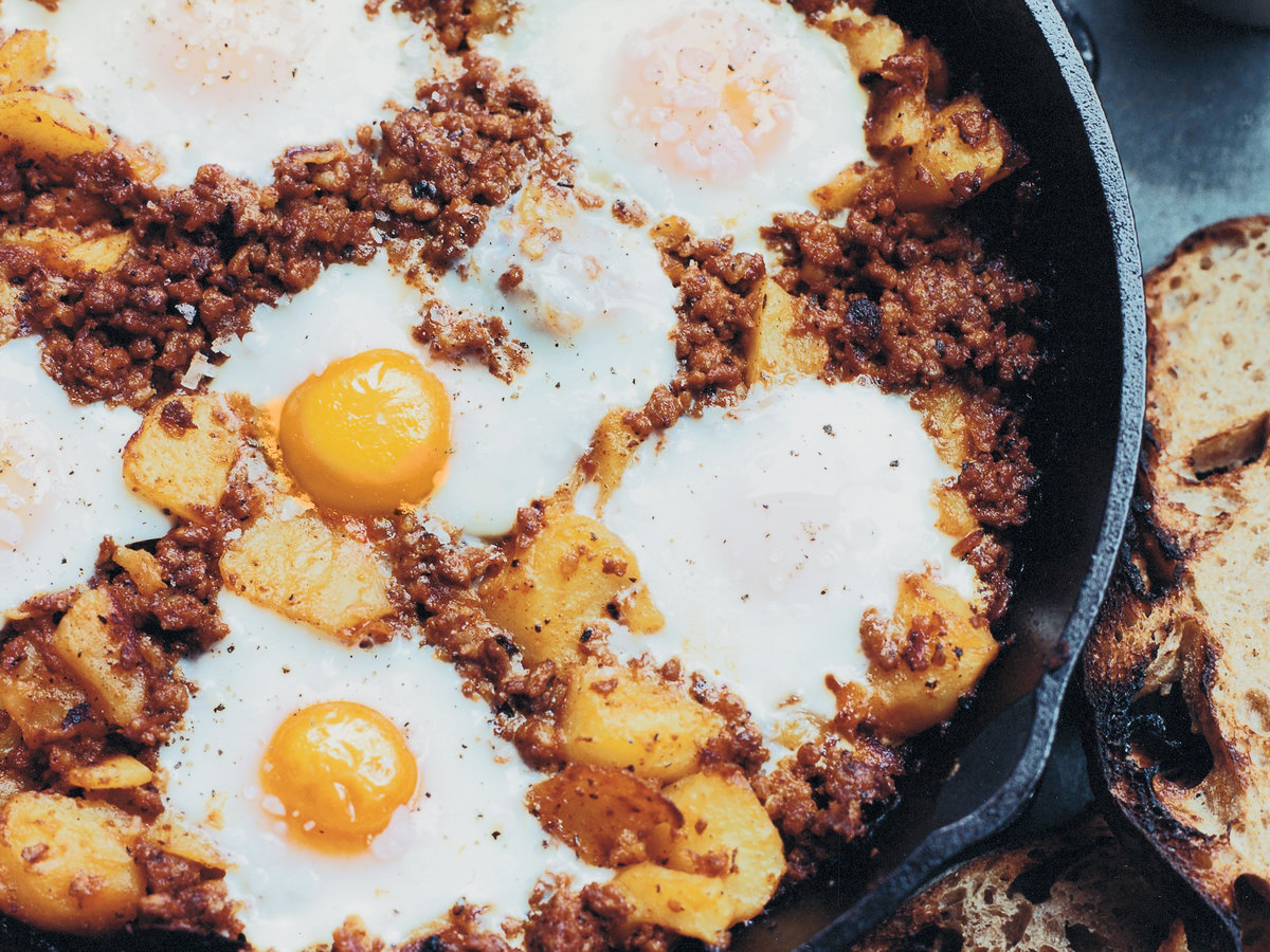Baked Eggs with Spanish Chorizo