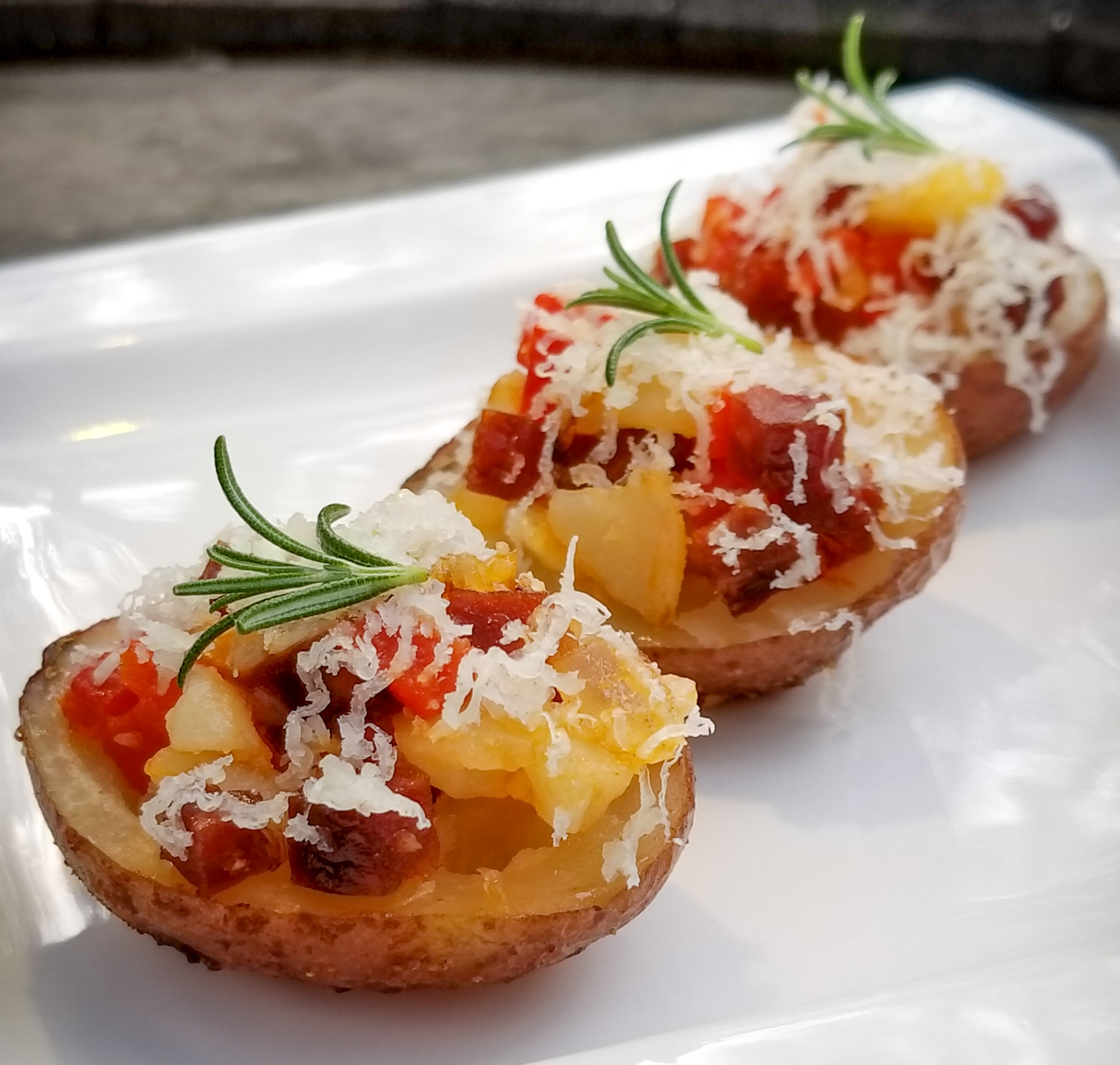 Spanish Chorizo Potato Bites