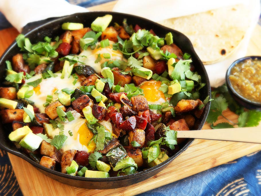 Green Chile Chorizo Hash