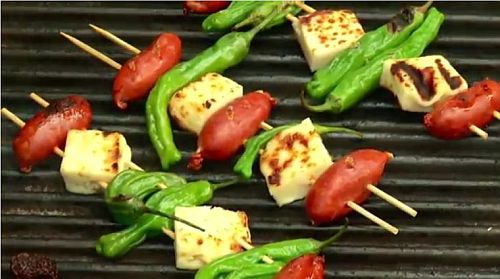 Grilled Besitos, Shishito Peppers & Cheese